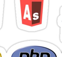 web developer programming lenguage set Sticker