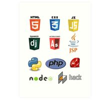 web developer programming lenguage set Art Print