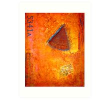 Contemporary Abstract Painting, Custom Made CARTE POSTALE Art Print