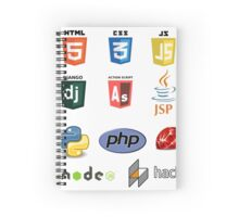 web developer programming lenguage set Spiral Notebook