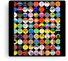 Reggae/Ska Records Canvas Print