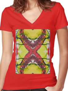 100 Days: 51/100 Women's Fitted V-Neck T-Shirt