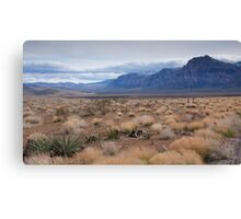 Blue Mountain Landscape in the Desert Southwest Canvas Print
