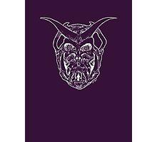 Horned Skull (white) Photographic Print