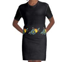 Floral Motif 1 Graphic T-Shirt Dress