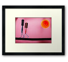 Brush Love Framed Print