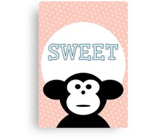 Sweet - Monkey Canvas Print