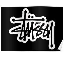 stussy #black Poster