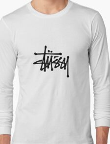 stussy #black Long Sleeve T-Shirt