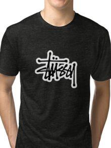 stussy #black Tri-blend T-Shirt