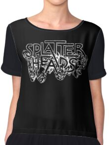 Splatterheads (white) Chiffon Top