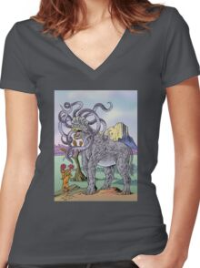 Hydratherium Women's Fitted V-Neck T-Shirt