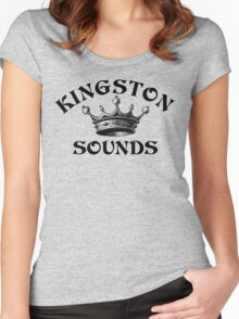 The Kingston Sounds  Women's Fitted Scoop T-Shirt