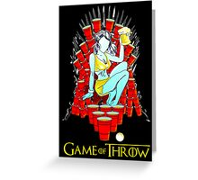 Game of Throw Greeting Card