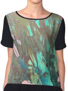 Carribean psychedelic marble ink Chiffon Top