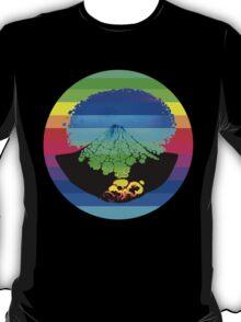 Rainbow Volcano  T-Shirt