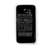 Edgar Allan Poe RAVEN typography Samsung Galaxy Case/Skin