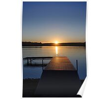 Sunset on Bear Creek Lake Poster