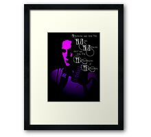 Living in the Purple Ambience of life Framed Print