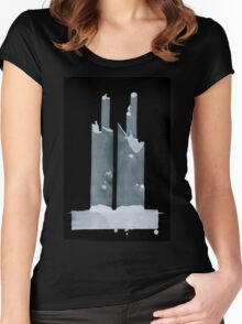 0101 - Brush and Ink - Two and Two and Two and More Women's Fitted Scoop T-Shirt