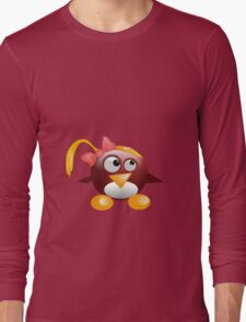 penguin with hat Long Sleeve T-Shirt