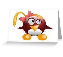 penguin with hat Greeting Card
