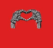 Robot hands make heart shape Unisex T-Shirt