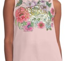 Botanical Floral Quote Contrast Tank