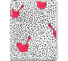 Trendy polka dots and hand drawn birds iPad Case/Skin