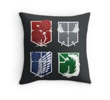Attack on Titan Emblems Throw Pillow