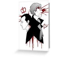 BBC Sherlock - The Reichenbach Fall Greeting Card