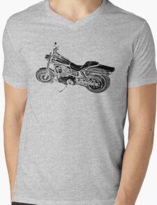 Urs' Harley (black) Mens V-Neck T-Shirt