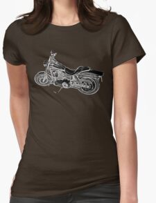 Urs' Harley (black) Womens Fitted T-Shirt