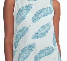 Soft Feather Contrast Tank