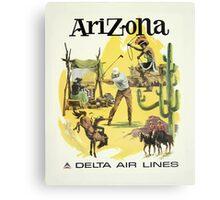 Arizona Delta Air Lines Vintage Travel Poster Canvas Print