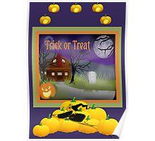 Halloween Scene Poster Poster