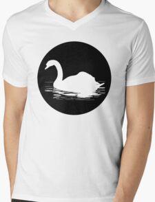 Swan Mens V-Neck T-Shirt