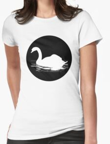 Swan Womens Fitted T-Shirt
