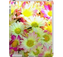 yellow/pink flowers iPad Case/Skin