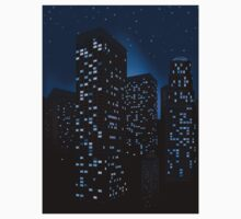 Night Cityscape Background 2 One Piece - Short Sleeve