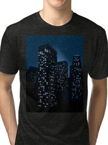 Night Cityscape Background 2 Tri-blend T-Shirt