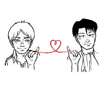Eren and Levi - Red String of Fate by tobiejade