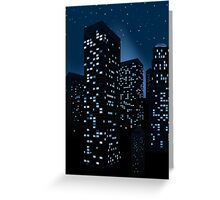 Night Cityscape Background 2 Greeting Card