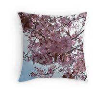 Blossom and Sky Throw Pillow