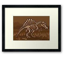Extinct Lil' Spinosaurus Framed Print