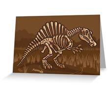 Extinct Lil' Spinosaurus Greeting Card