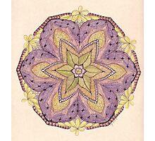 Tangled Mandala in Color Photographic Print