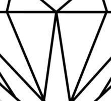 Diamond (black) Sticker
