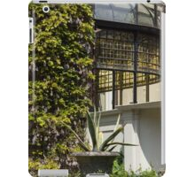 Gardening Delights - Wisteria, Aloe Vera and a Stained Glass Canopy - Right iPad Case/Skin