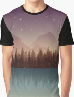 Relaxing Forest at Night Graphic T-Shirt